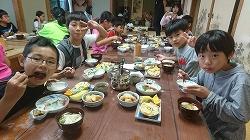 自然学校1日目夕食