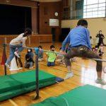 鉄棒の練習